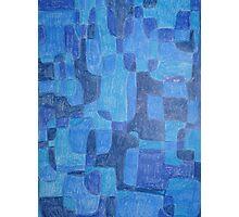 Blue Cubes Photographic Print
