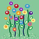Arty jewel bright flowers by goanna