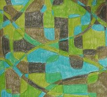 Green Abstract by Joan Wild