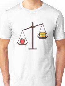 compare healthy and fast food Unisex T-Shirt