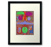 BEACH CAFE Framed Print