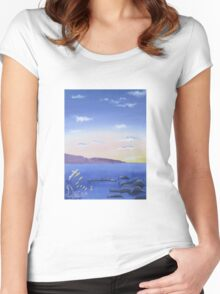 Dreamy Sunset Women's Fitted Scoop T-Shirt