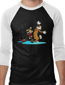 Calvin and Hobbes Funny Men's Baseball ¾ T-Shirt