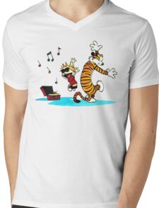 Calvin and Hobbes Funny Mens V-Neck T-Shirt