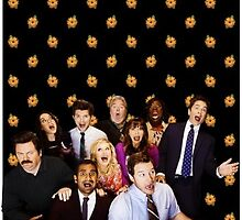 Parks and Rec Cast by hayley-skidmore