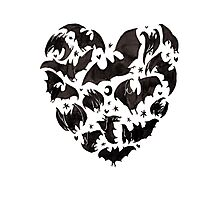 Bat Heart Photographic Print