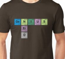 NERD GENIUS!GENUIS NERD - Perodic Table Scrabble Unisex T-Shirt