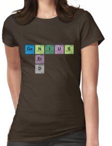 NERD GENIUS!GENUIS NERD - Perodic Table Scrabble Womens Fitted T-Shirt