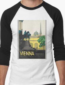 Vintage Travel Poster - Vienna Men's Baseball ¾ T-Shirt