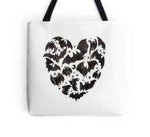 Bat Heart Tote Bag