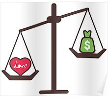 compare love and money Poster