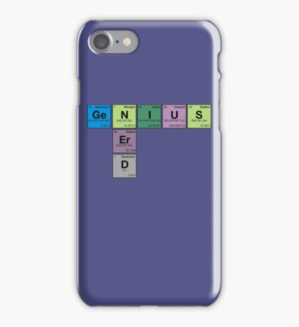 NERD GENIUS!GENUIS NERD - Perodic Table Scrabble iPhone Case/Skin