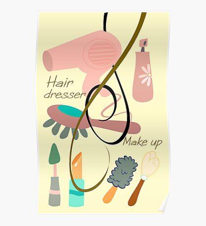 Hair dresser design2 Poster