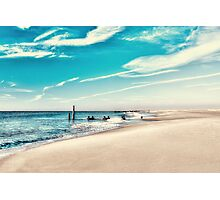 Blue Skies at Cape May Photographic Print