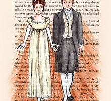 Elizabeth Bennet and Mr Darcy by Purrr
