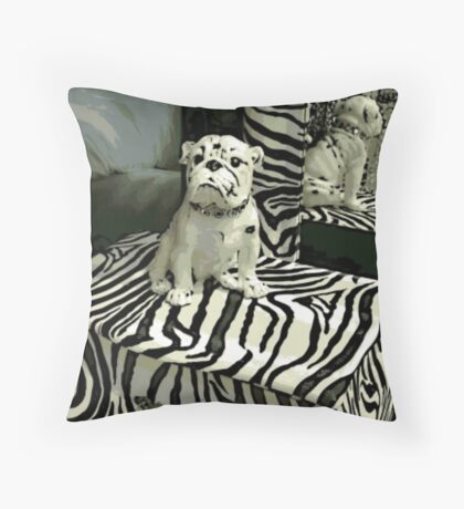 Pampered Pooch Throw Pillow