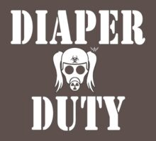 Diaper Duty Funny Gas Mask Baby Tee