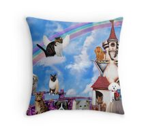 RAINBOW BRIDGE PILLOW IN REMBRANCE FOR THE LOVE OF OUR PRECIOUS ANIMALS WHO HAVE GONE BUT NEVER FROM OUR HEARTS AND THOUGHTS Throw Pillow
