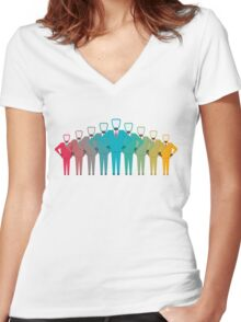 business team design Women's Fitted V-Neck T-Shirt