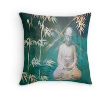 Buddha sculpture Throw Pillow