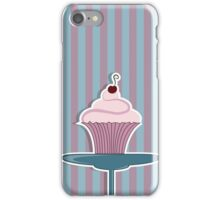 Sweet dessert. The cupcake with cream and cherry iPhone Case/Skin