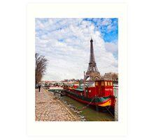 Tour Eiffel sur la Seine - Parisian Scene Art Print
