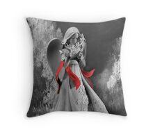 INFRARED ANGEL TROW PILLOW Throw Pillow