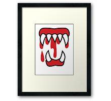Monster teeth costume  Framed Print