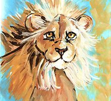 Expressionistic Lion by Carole Chapla