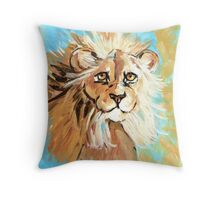 Expressionistic Lion Throw Pillow