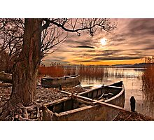 Dreaming of leaving - Petron lake, Florina Photographic Print