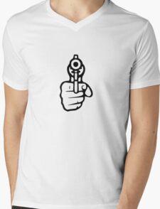 Pistol Mens V-Neck T-Shirt