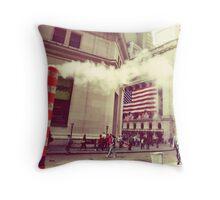 Wall Street Throw Pillow