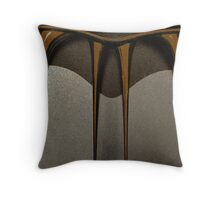 Brown Icicles Throw Pillow