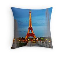 Eiffel Tower by Night - Paris Throw Pillow