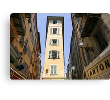 Vieux Nice, Old Town, Nice, France Canvas Print
