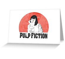 Mia Pulp Fiction Greeting Card