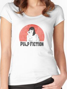 Mia Pulp Fiction Women's Fitted Scoop T-Shirt