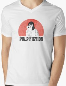 Mia Pulp Fiction Mens V-Neck T-Shirt