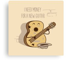 NEW GUITAR Canvas Print