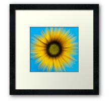 Abstract Sunflower Framed Print