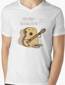 NEW GUITAR Mens V-Neck T-Shirt