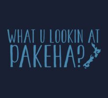 What you looking at pakeha? (non Maori person) Kids Clothes