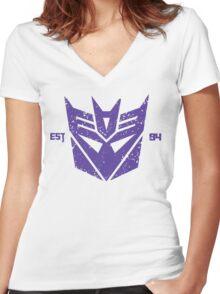 Legendary Decepticons Women's Fitted V-Neck T-Shirt