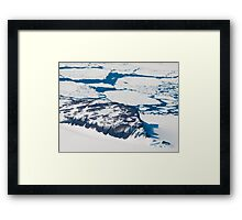 Antarctica from above #6 Framed Print
