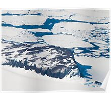 Antarctica from above #6 Poster