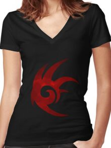 Shadow the Hedgehog Logo  Women's Fitted V-Neck T-Shirt
