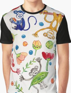 Monkeys Frolicking Graphic T-Shirt