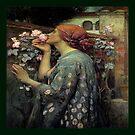 Pre Raphaelite , Throw Pillow  by Irene  Burdell