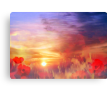 Landscape of dreaming Poppies'... Canvas Print